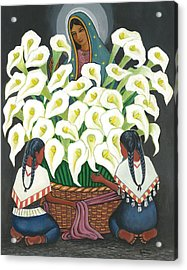 Guadalupe Visits Diego Rivera Acrylic Print