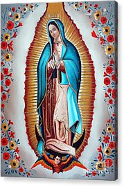 Guadalupe's Virgin Acrylic Print by Jose Luis Montes