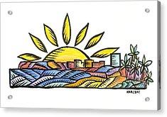 Guam Sunset 2009 Acrylic Print by Marconi Calindas