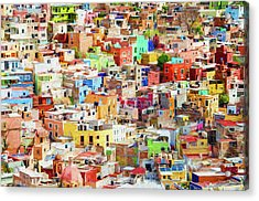 Acrylic Print featuring the photograph Guanajuato 1, Mexico. by Rob Huntley