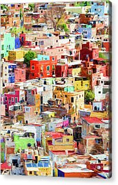 Acrylic Print featuring the photograph Guanajuato 2, Mexico. by Rob Huntley