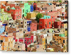 Acrylic Print featuring the photograph Guanajuato 3, Mexico. by Rob Huntley