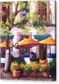 Guanajuato Cafe Acrylic Print by Candy Mayer