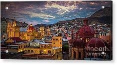 Guanajuato Evening Panorama Acrylic Print
