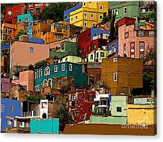 Guanajuato Hillside 4 Acrylic Print by Mexicolors Art Photography