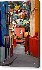 Acrylic Print featuring the photograph Guanajuato Lane by Skip Hunt