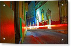 Acrylic Print featuring the photograph Guanajuato Night by Skip Hunt