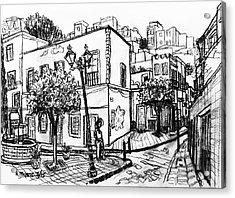 Guanajuato Street Acrylic Print by Rich Travis