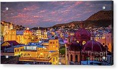Guanajuato Twilight Panorama Acrylic Print