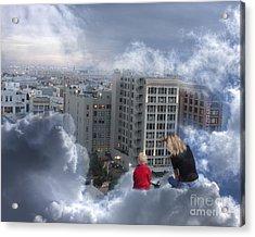 Guardian Angels Acrylic Print by Debbie Herb