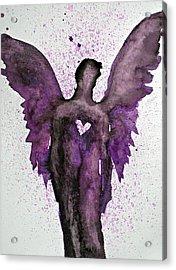Guardian Angels Purple Acrylic Print by Alma Yamazaki
