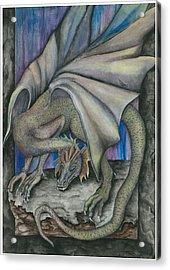 Guardian Dragon Acrylic Print by Sally Balfany