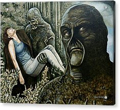 Acrylic Print featuring the painting Guardian Of The Swamp by Al  Molina