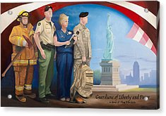 Guardians Of Liberty And Peace Acrylic Print by Michael Wilson