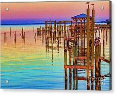 Guarding The Dock Acrylic Print