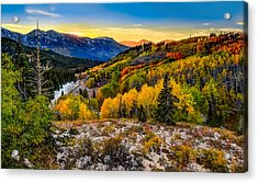 Guardsmans Pass Sunset Acrylic Print