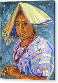 Acrylic Print featuring the painting Guatemala Impression II by Xueling Zou