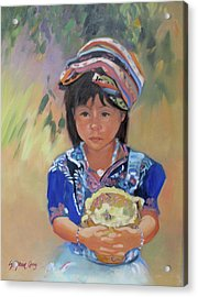 Guatemalan Girl Acrylic Print