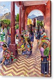 Guatemalan Marketplace Acrylic Print