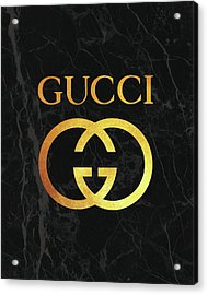 Gucci - Black And Gold - Lifestyle And Fashion Acrylic Print