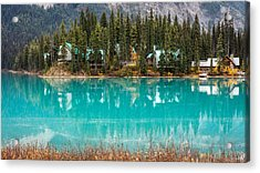 Acrylic Print featuring the photograph Emerald Lake by Pierre Leclerc Photography