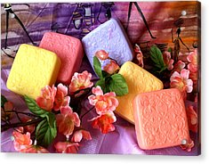 Guest Soaps Acrylic Print by Sonja Anderson