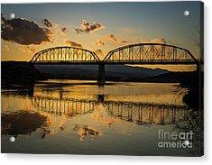 Guffey Bridge At Sunset Idaho Journey Landscape Photography By Kaylyn Franks Acrylic Print