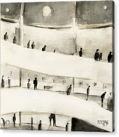 Guggenheim Inside Acrylic Print by Beverly Brown