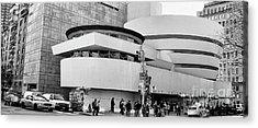 Guggenheim Museum Nyc Bw Acrylic Print