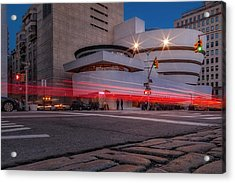 Acrylic Print featuring the photograph Guggenheim Museum Nyc  by Susan Candelario