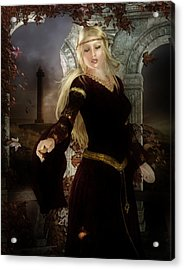 Guinevere's Tears Acrylic Print by Mary Hood