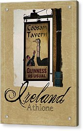 Guinness As Usual Athlone Ireland Acrylic Print by Teresa Mucha