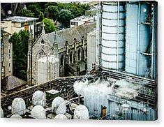 Guinness Brewery And St James Church In Dublin Acrylic Print by RicardMN Photography