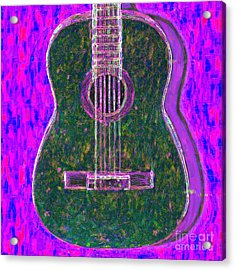 Guitar - 20130123v2 Acrylic Print by Wingsdomain Art and Photography
