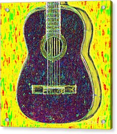 Guitar - 20130123v3 Acrylic Print by Wingsdomain Art and Photography