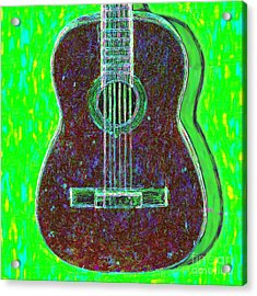 Guitar - 20130123v4 Acrylic Print by Wingsdomain Art and Photography