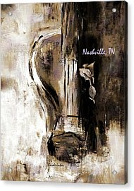 Guitar And A Rose Acrylic Print by Carole Jacobs