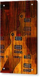 Guitar Army Acrylic Print by Bill Cannon