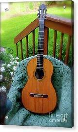 Guitar Awaiting Acrylic Print
