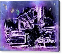 Acrylic Print featuring the photograph Guitar Blues by Susan Kinney