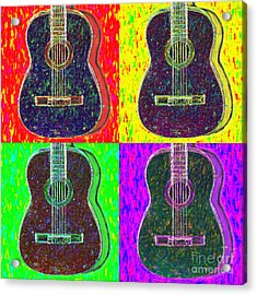 Guitar Four 20130123v1 Acrylic Print by Wingsdomain Art and Photography