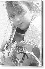 Guitar Girl Acrylic Print