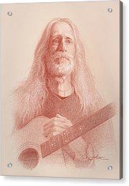Guitar Hank Acrylic Print by Todd Baxter