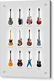 Guitar Icons No3 Acrylic Print by Mark Rogan