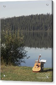 Guitar Lake Acrylic Print