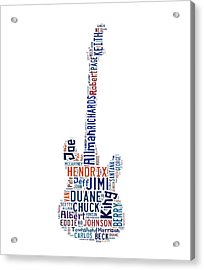Guitar Legends Acrylic Print by Bill Cannon