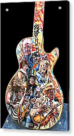 Guitar Legends Picking A Gibson Acrylic Print