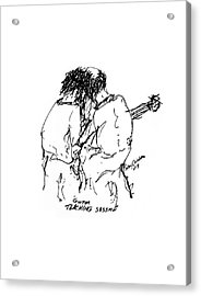 Guitar Lesson Acrylic Print by Sam Chinkes