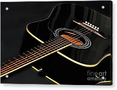 Acrylic Print featuring the photograph Guitar Low Key By Kaye Menner by Kaye Menner