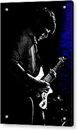Guitar Man In Blue Acrylic Print by Meirion Matthias